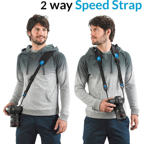 Miggo Padded  2 way Speed Strap for  SLR and Mirorless Cameras - Space Zoo