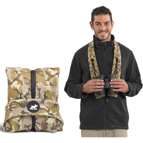 Miggo Padded  Camera Strap  and Wrap for Binocular  - Camo