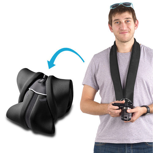 Miggo Padded  Camera Strap and Wrap  for CSC  ; Black