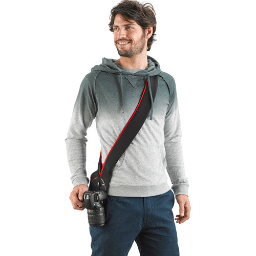 Miggo Padded  Camera Strap and Wrap  for SLR Med  - Black- Red