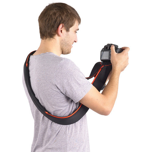 Miggo Padded  Camera Strap and Wrap  for SLR  ; Black/ Red