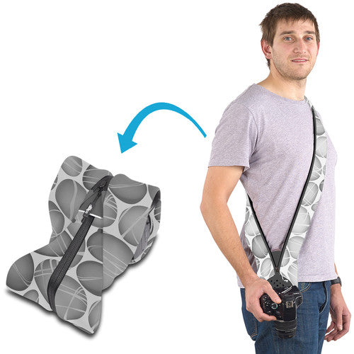 Miggo Padded  Camera Strap and Wrap  for SLR  ; Pebble Road