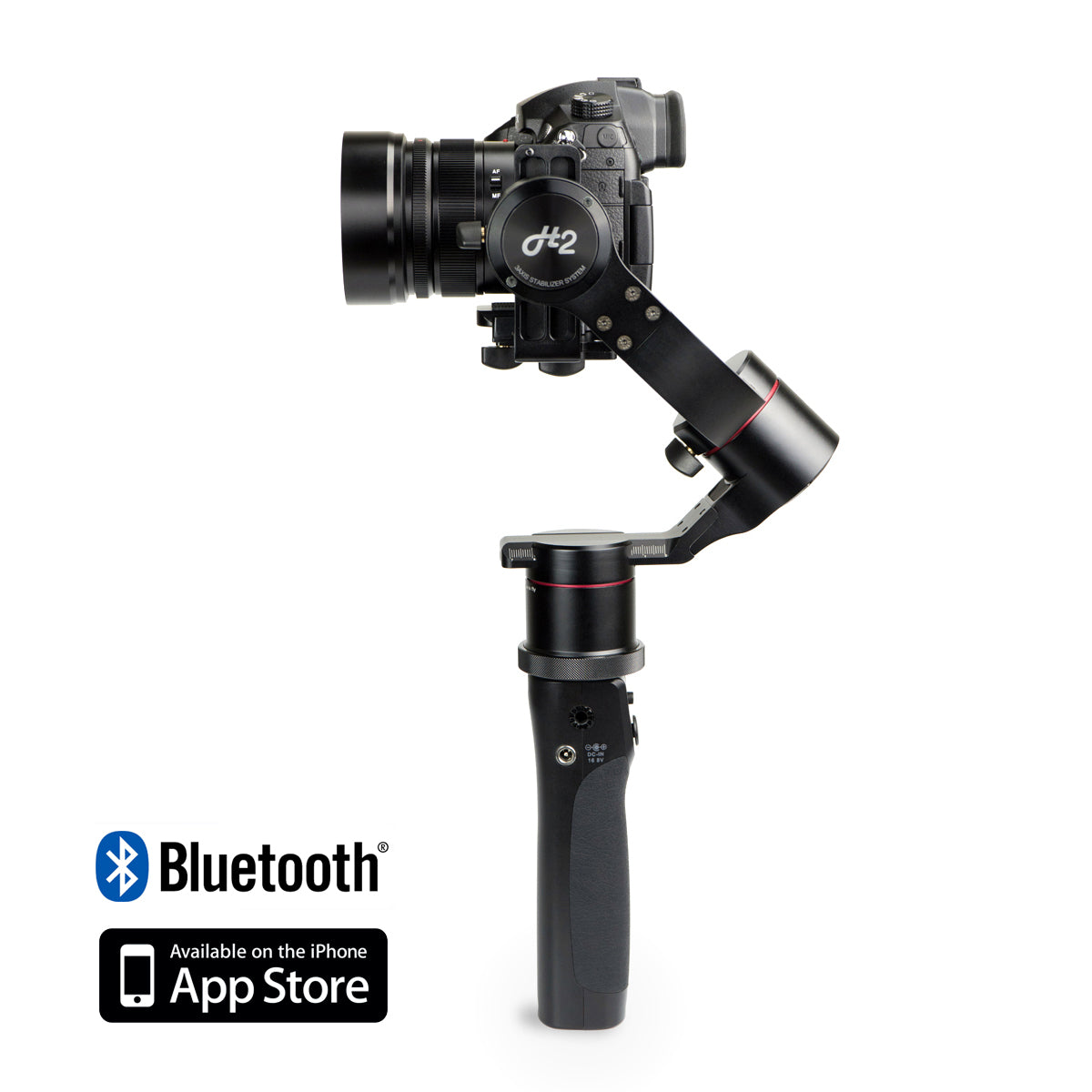 Pilotfly H2-45 3-Axis Handheld gimbal for mirrorless and DSLR cameras with a direct view of your camera display.
