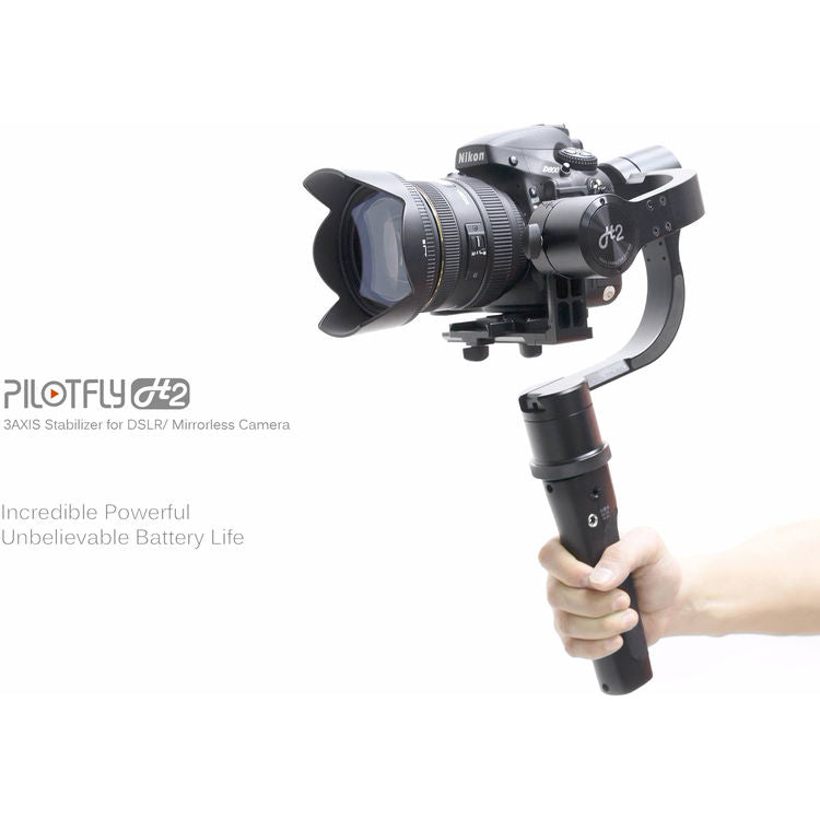 Pilotfly H2 3-Axis Handheld Gimbal for Sony A7 cameras with 32bit Alexmos with Triple-MCU Technology (Black) (Certified Refurbished)