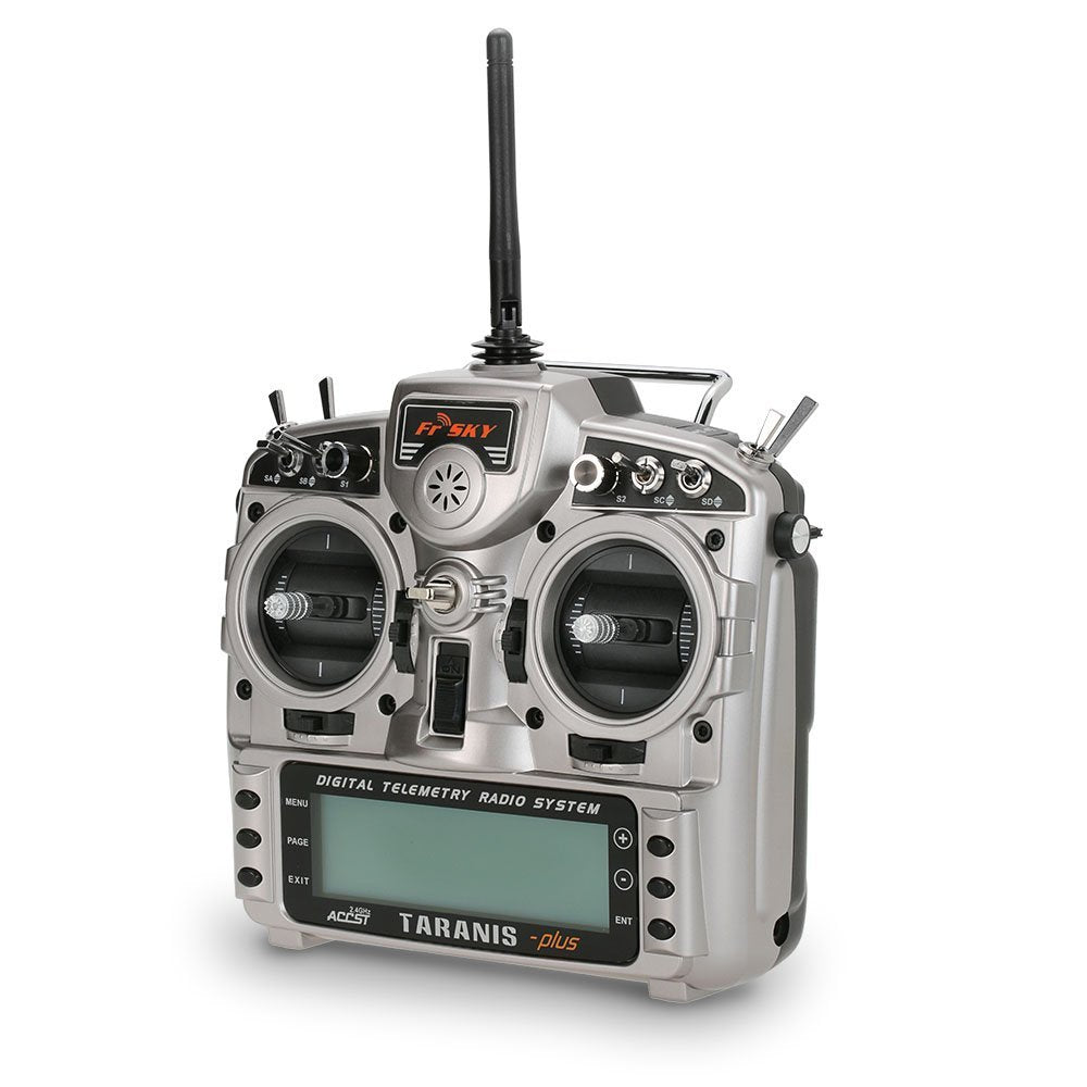 FrSky Taranis X9D plus 16-channel 2.4Ghz ACCST Radio Transmitter (mode 2) With X8R Alu Case & Carton