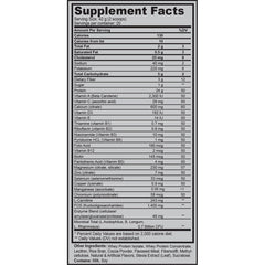 Supplement facts for the BarwisMethods MRP (Meal Replacement Plan), incorporating vitamin health into a professional muscle building diet