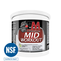 BarwisMethods Mid-Workout formula, an amino acid supplement supporting healthy muscle recovery during high intensity interval training, or HIIT, workouts