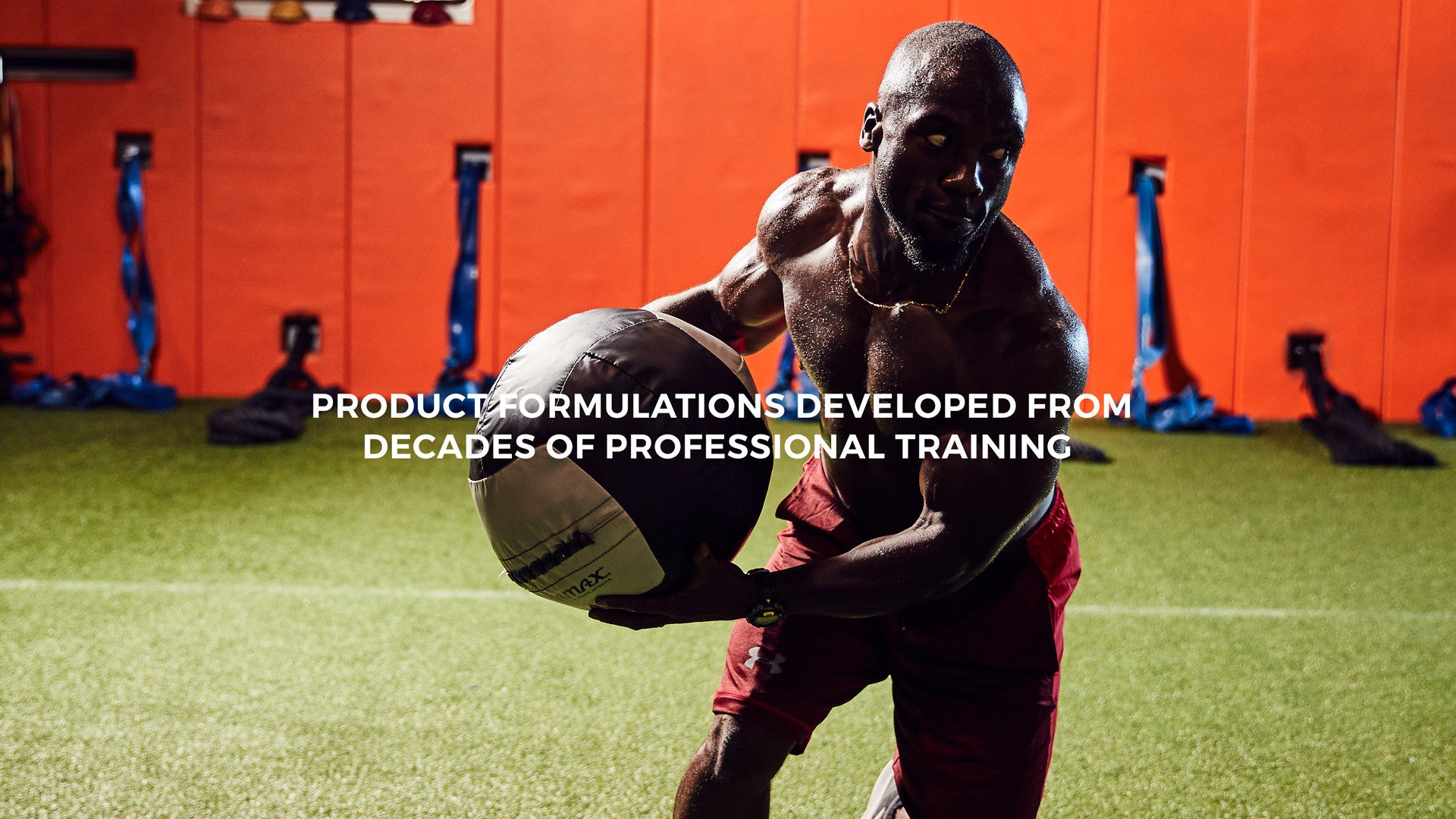 Barwis Nutrition professional sports and fitness trainer Bryan Wright in a high intensity training muscle gain workout