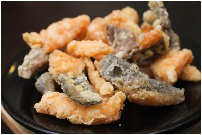 Fried Salmon Skin Marijoinlah