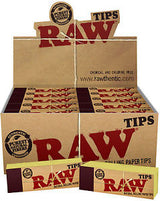 Raw Natural Unrefined Tips 17mm Box of 50