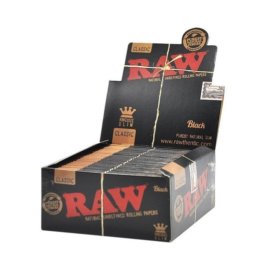 Raw Black King Size Slim Box of 50