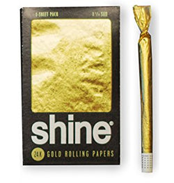 Shine 24K Gold Rolling Paper 1-Sheet Pack (Regular Size)