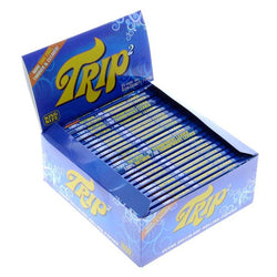 Trip2 King Size Clear Rolling Paper Box of 24