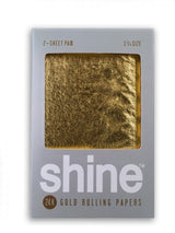 Shine 24K Gold Rolling Paper 2-Sheet Pack (Regular Size)