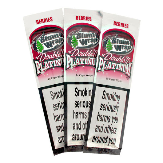 Blunt Wrap Double Platinum - Berries (Silver)