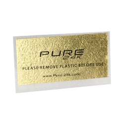 Pure 24K Gold Rolling Paper 2-Sheet Pack (Regular 1 1/4 Size)