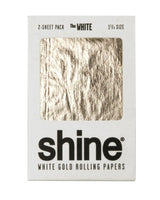 Shine 24K White Gold Rolling Paper 2-Sheet Pack (Regular Size)