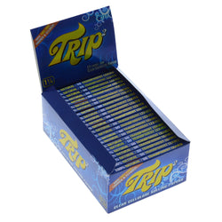 Trip2 1 1/4 Size Clear Rolling Paper Box of 24