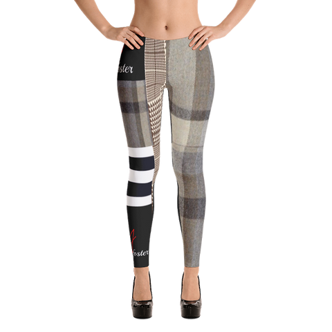 VF VINNYFOSTER MULTI PLAID LEGGINGS SIGNATURE COLLECTION