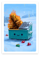 Dumpster Fire Holiday Inferno - Holiday Card 10 pack