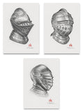 Miniature Helm Original Graphite Triptych