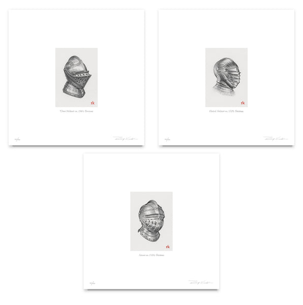 Miniature Helm Print Collection