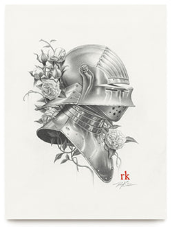 Sallet III Original Graphite Art