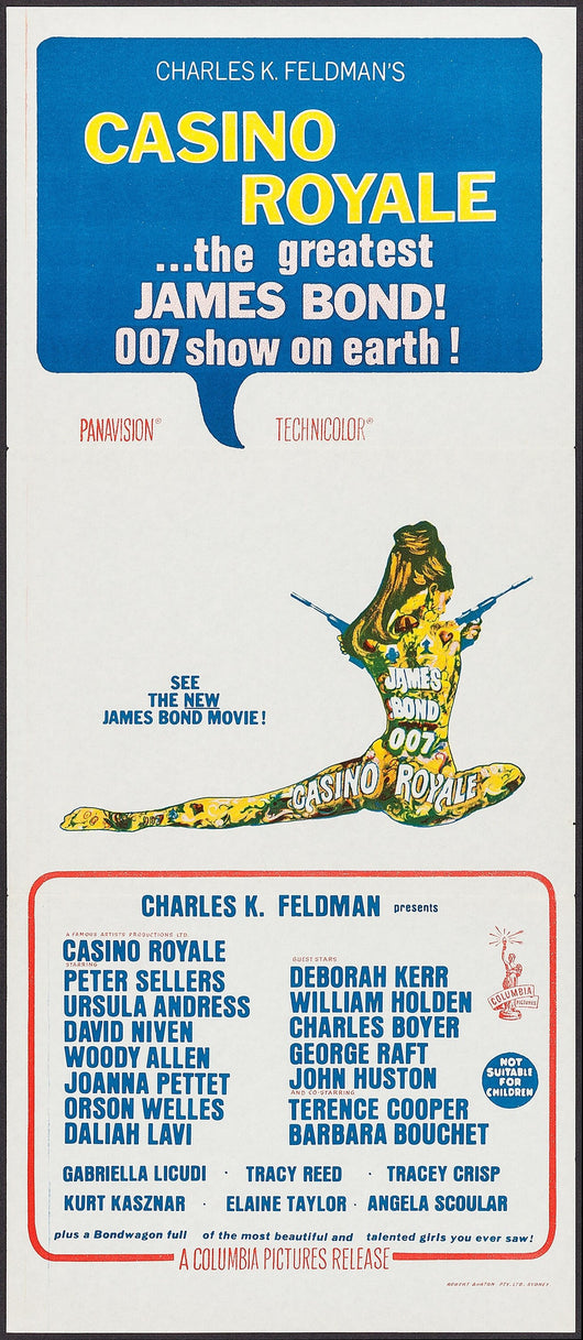 Casino Royale (1967) Original Movie Poster (Australian)