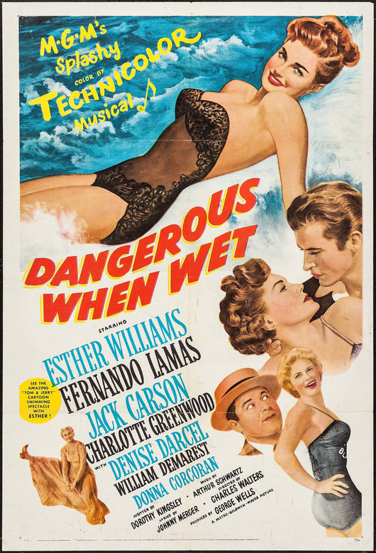 Dangerous When Wet Original Movie Poster