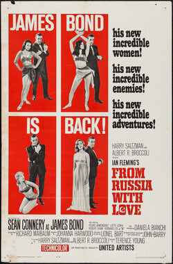 From Russia With Love Original Movie Poster