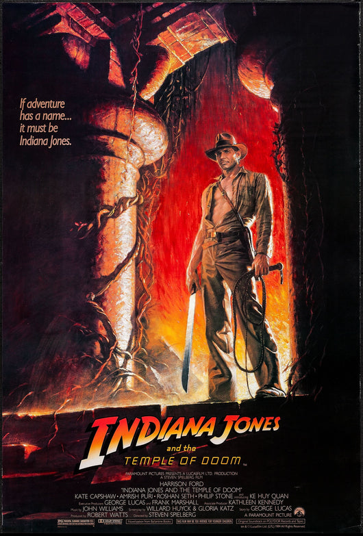 Indiana Jones and the Temple of Doom Original Movie Poster