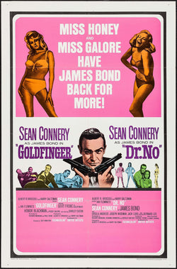 James Bond Goldfinger/Dr. No Combo Original Movie Poster