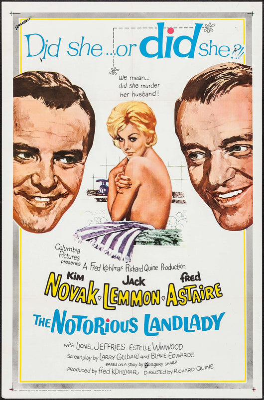 The Notorious Landlady Original Movie Poster