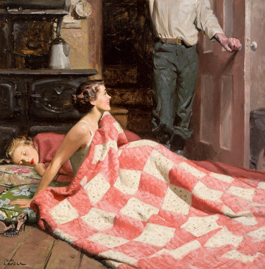 Tom Lovell- Original Painting, Come Live with Me