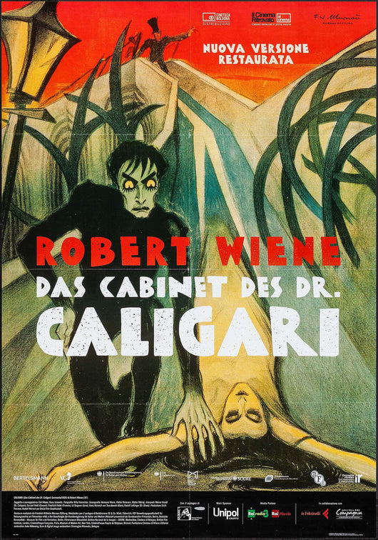 The Cabinet of Dr. Caligari Theatrical Movie Poster (Italian)