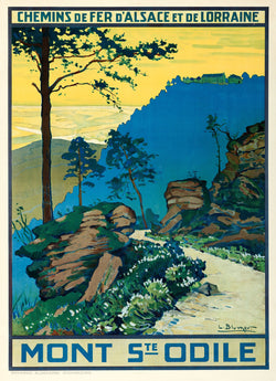 Mont Ste. Odile Travel Poster by Lucien Blumer