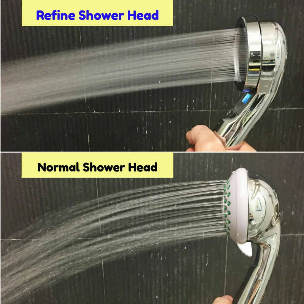 Refine Digital Temperature Display Shower Head with Chlorine Filter RF02003