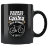 11oz Mug (Black) - Cycling with a chance of Coffee