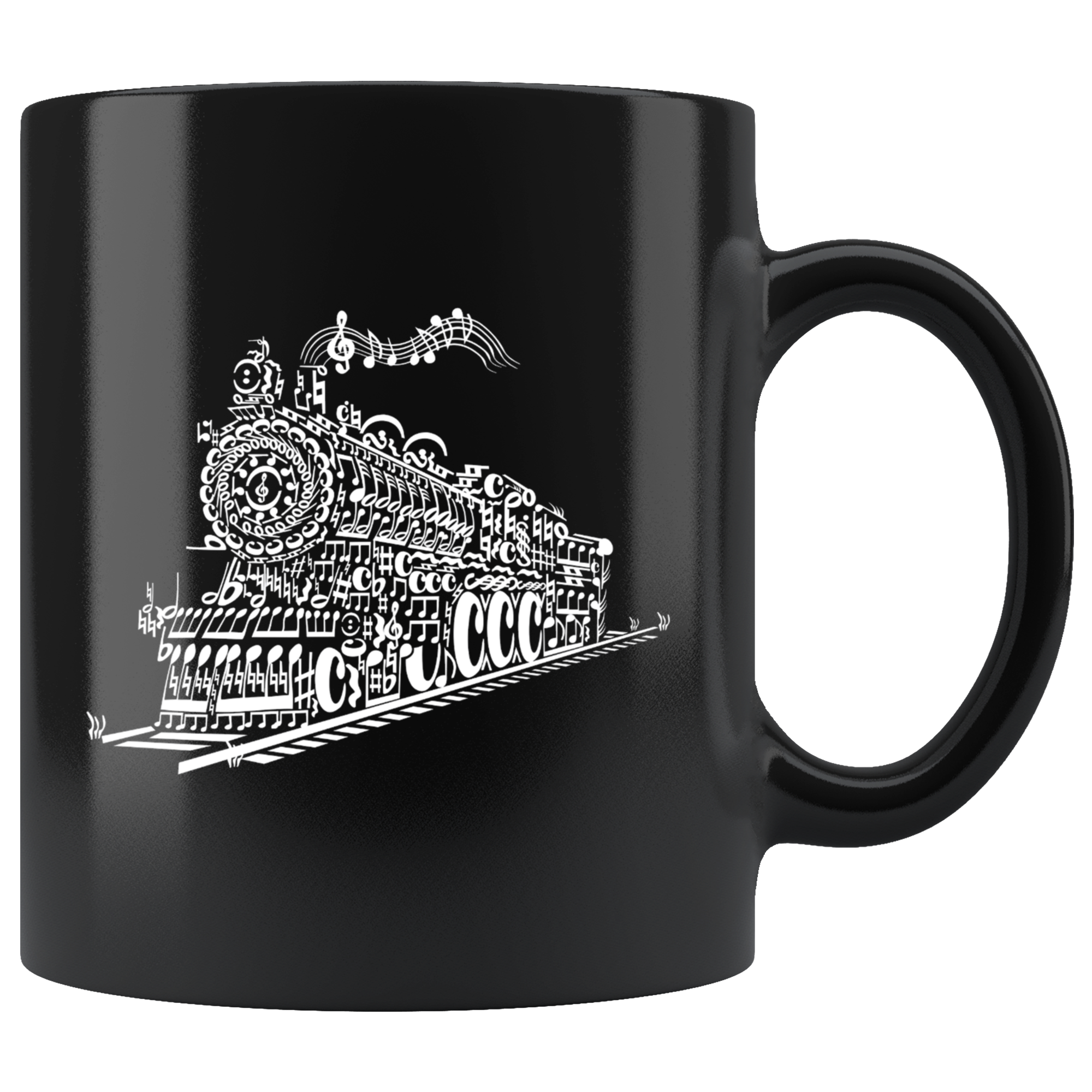 11oz Mug (Black) - Train Song
