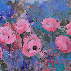 Expressionistic Pink Poppies