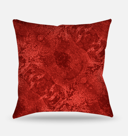 Red Poppies Collection Pillow - Red