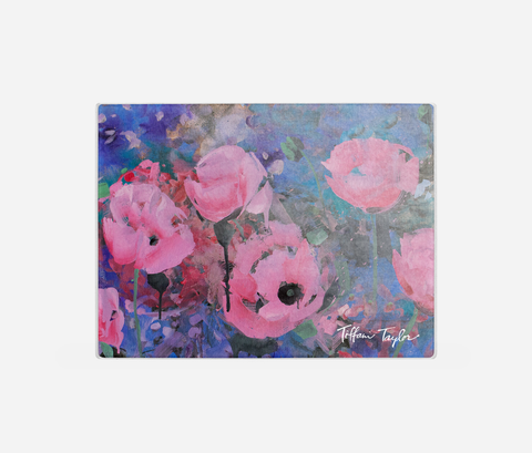 Expressionistic Pink Poppies Cutting Board