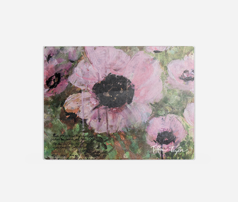 Pink Poppy Patina Cutting Board