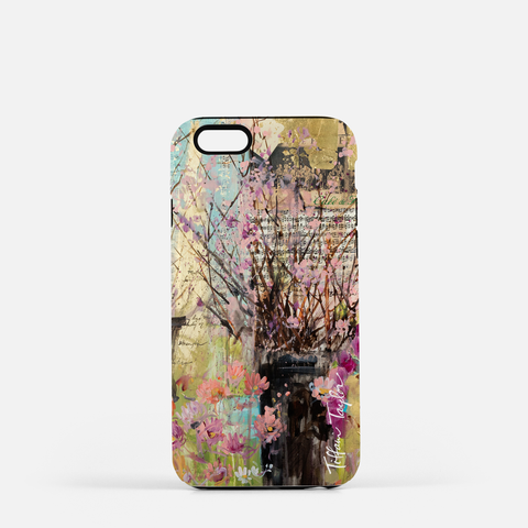 Cherry Blossoms And Orchids Phone Case