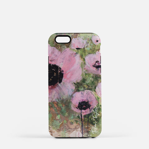 Pink Poppy Patina Phone Case