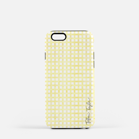 Sunflower Plaid Phone Case