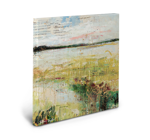 Expressionistic Marsh Gallery Wrapped Canvas