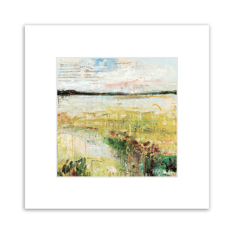 Expressionistic Marsh Matted Print