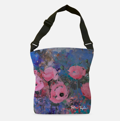 Expressionistic Pink Poppies Tote Bag