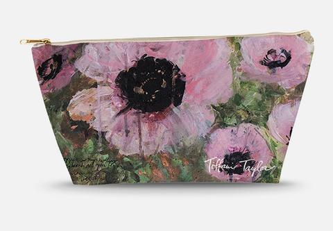 Pink Poppy Patina Accessory Bag